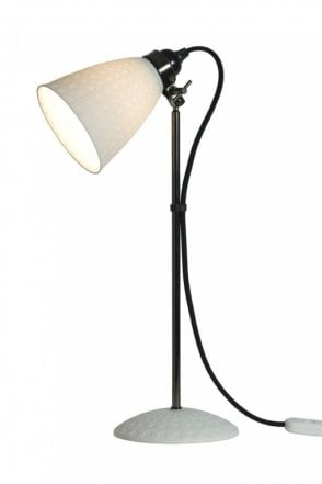 Hector 21 Table Lamp in White Textured