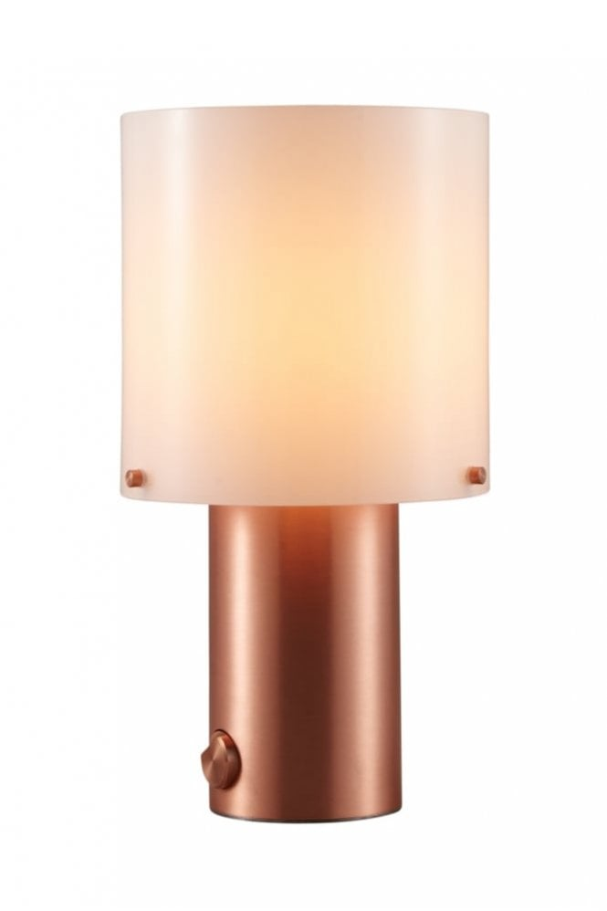 Original BTC Walter Table Light in Anthracite and Copper