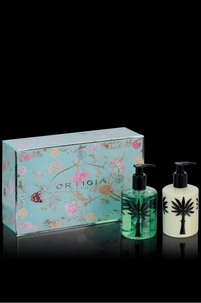 Ortigia Florio Liquid Soap & Body Cream Box