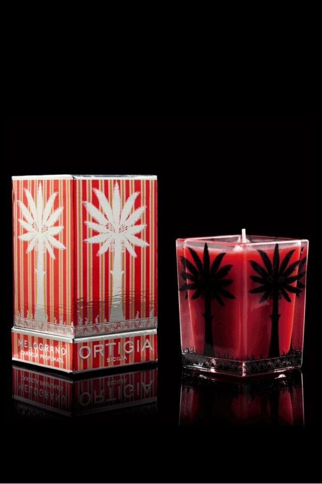 Ortigia Pomegranate Large Square Candle
