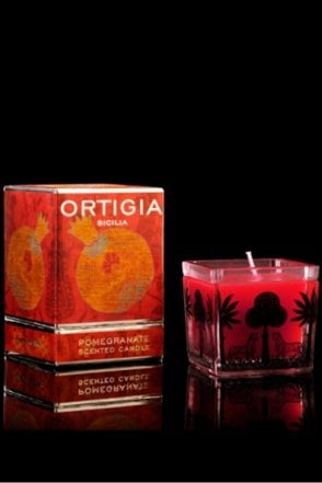 Pomegranate Square Candle