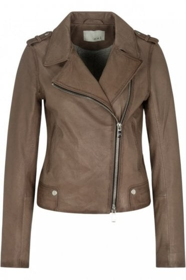 Leather Jacket in Fungi