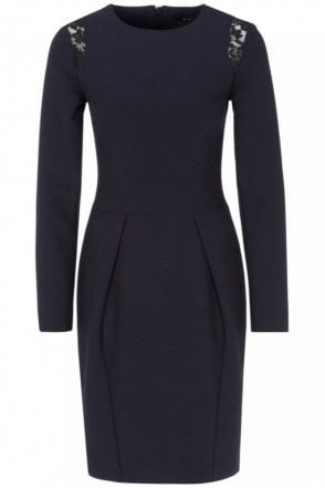 Long Sleeve Dress in Navy