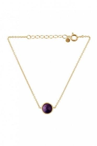 Aura Amethyst Bracelet in Gold