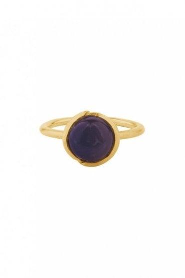 Aura Amethyst Ring in Gold