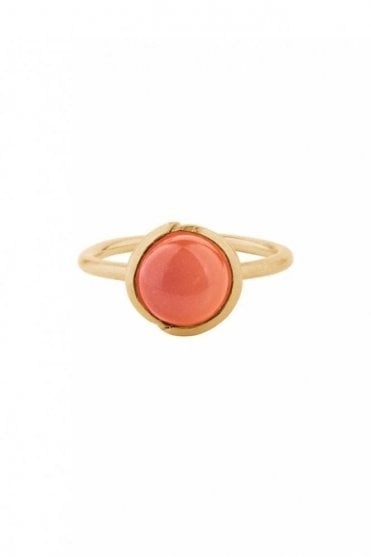 Aura Coral Ring in Gold
