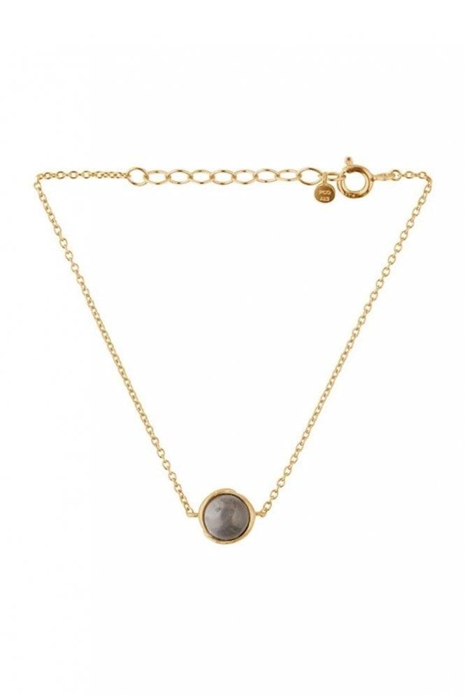 Pernille Corydon Aura Grey Moonstone Bracelet in Gold