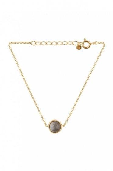 Aura Grey Moonstone Bracelet in Gold