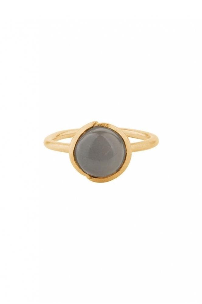 Pernille Corydon Aura Grey Moonstone Ring in Gold