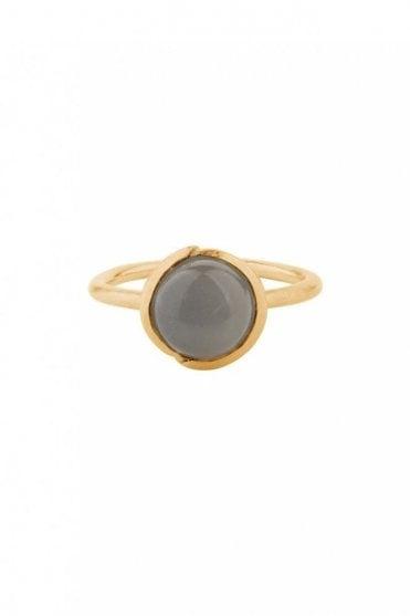 Aura Grey Moonstone Ring in Gold