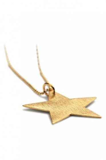 Big Star Necklace in Gold