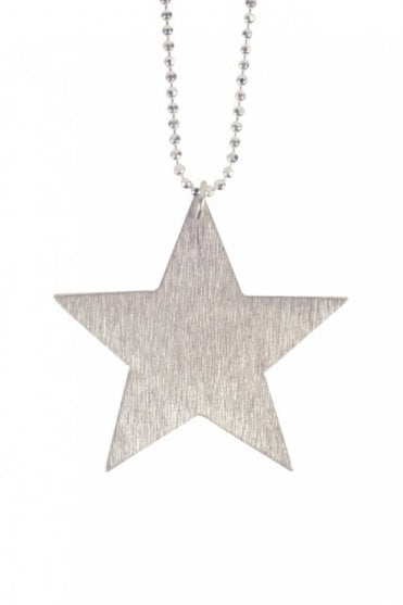 Big Star Necklace in Silver