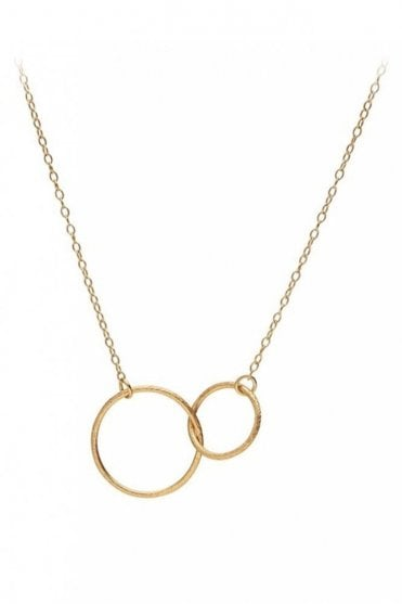 Double Plain Necklace in Gold