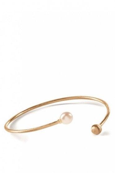 Freshwater Pearl Bracelet in Gold