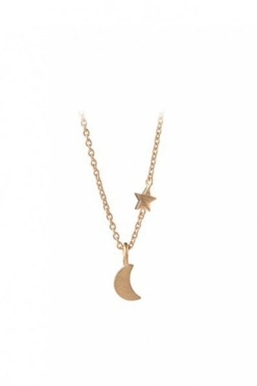 Luna Star Necklace in Gold