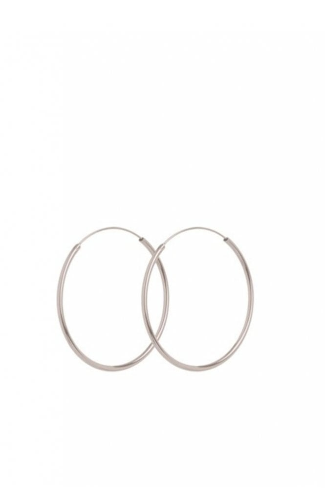 Pernille Corydon Midi Plain Hoop Earrings in Silver
