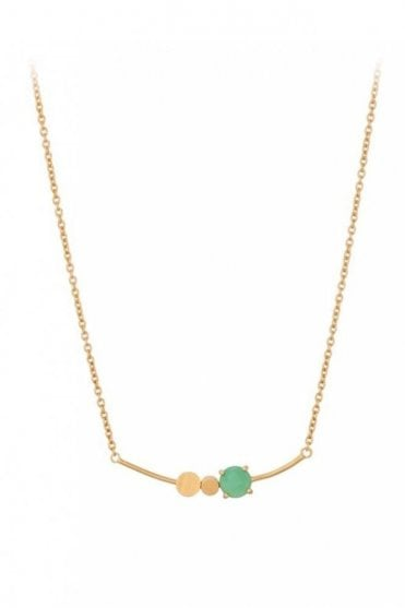 Moss Necklace in Gold
