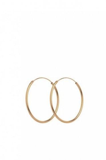 Plain Hoop Earrings in Gold
