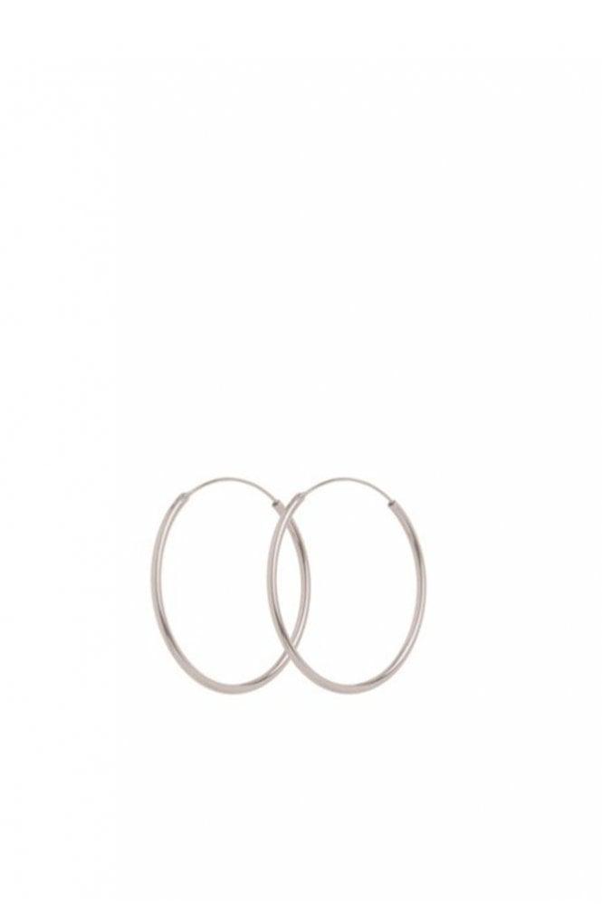 Pernille Corydon Plain Hoop Earrings in Silver