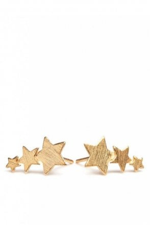 Shooting Stars Earrings in Gold