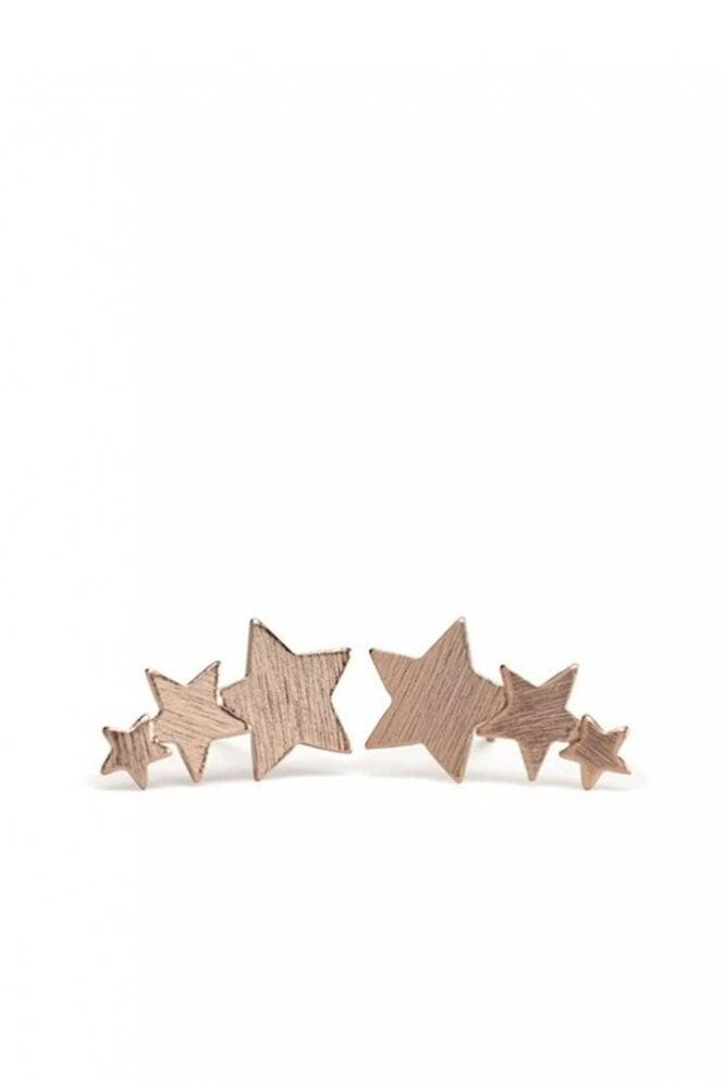 Pernille Corydon Shooting Stars Earrings in Rose Gold