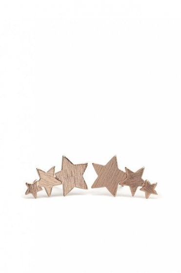 Shooting Stars Earrings in Rose Gold