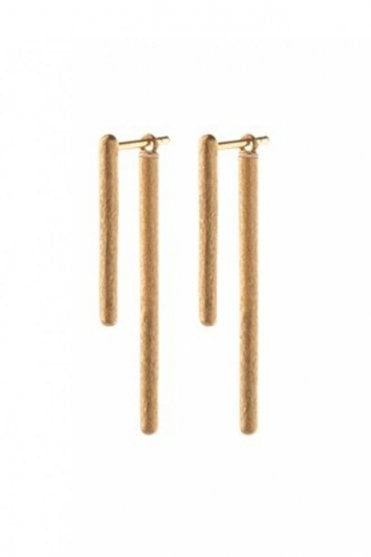 Stick Behind Earrings in Gold