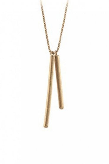 Stick Necklace in Gold