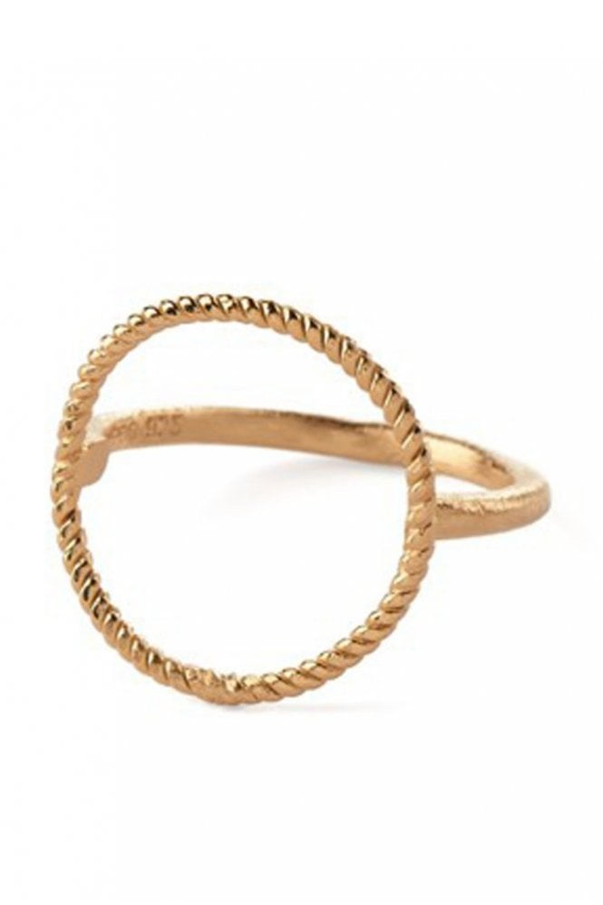 Pernille Corydon Twisted Open Coin Ring in Gold