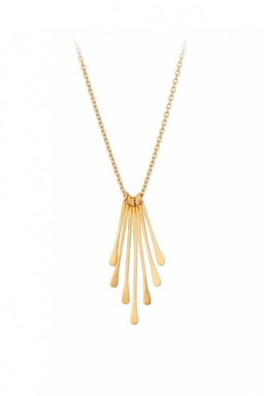 Waterfall Necklace in Gold