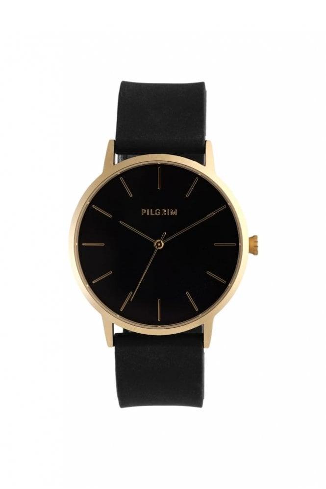 Pilgrim Aurelia Gold Plated Watch in Black