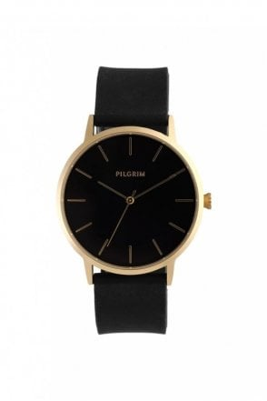 Aurelia Gold Plated Watch in Black