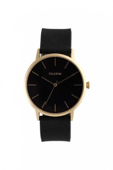 Aurelia Gold Plated Watch in Black