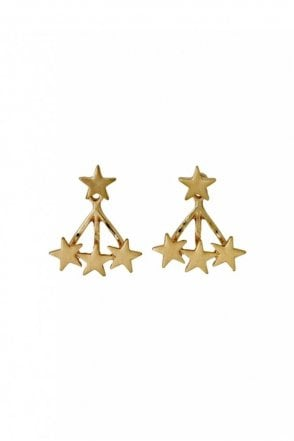 Ava Gold Plated 2-in-1 Earrings