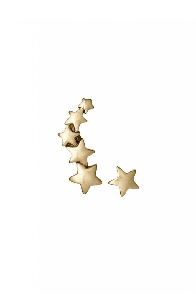 Pilgrim Ava Gold Plated Star Cuff and Stud Earrings