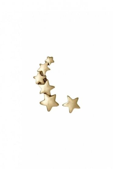 Ava Gold Plated Star Cuff and Stud Earrings