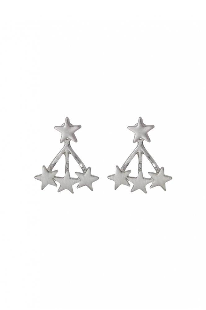 Pilgrim Ava Silver Plated 2-in-1 Earrings