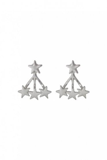 Ava Silver Plated 2-in-1 Earrings