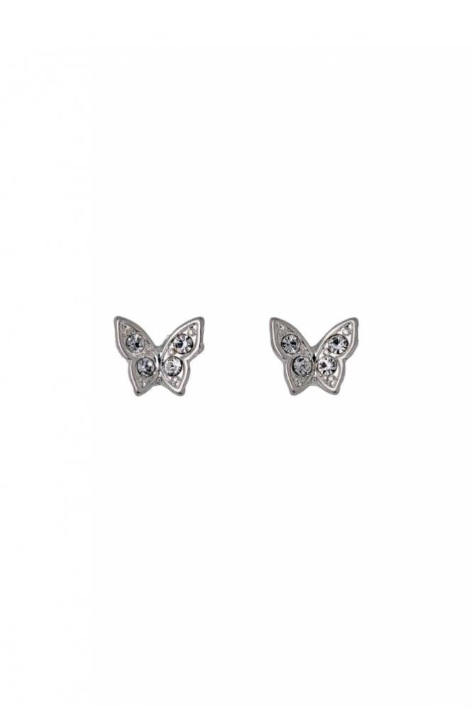 Pilgrim Freya Silver Plated Butterfly Earrings