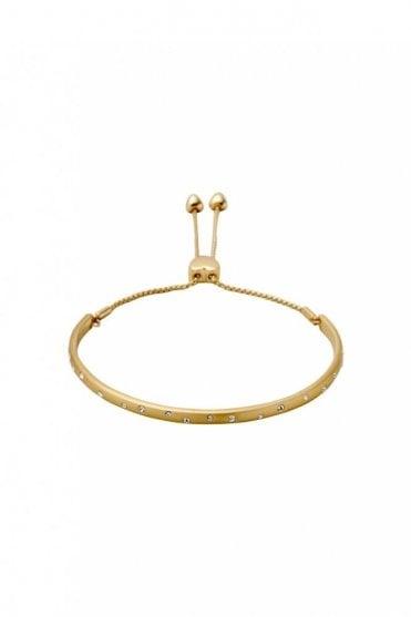 Hannah Gold Plated Crystal Bracelet