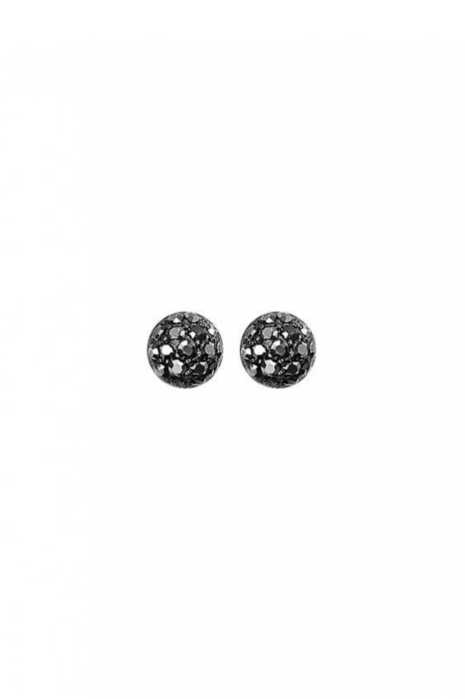 Pilgrim Mai Hematite Plated Grey Crystal Earrings