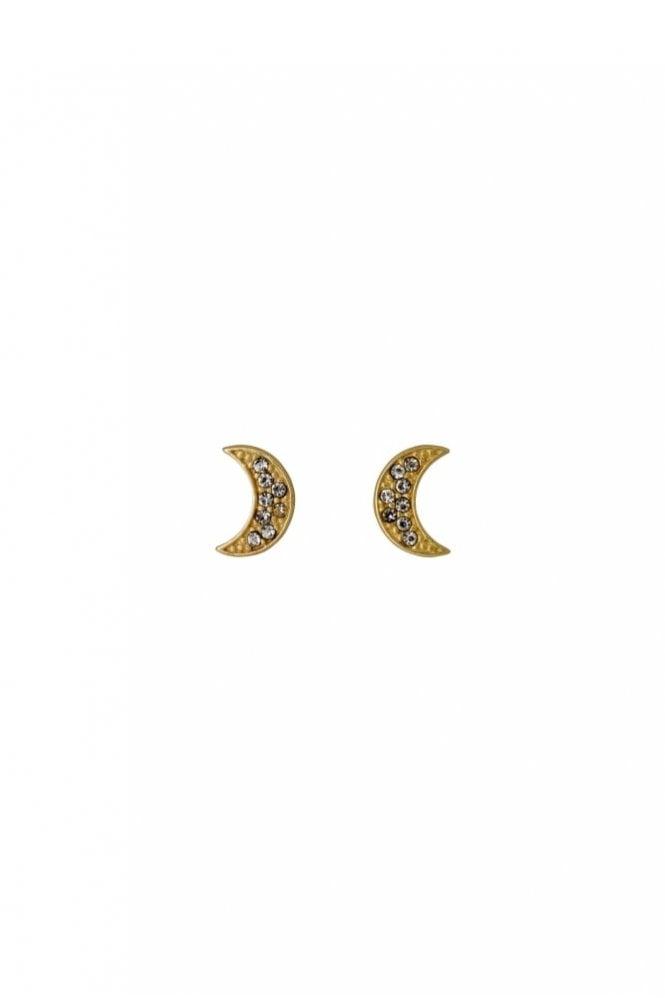 Pilgrim Olivia Gold Plated Moon Earrings