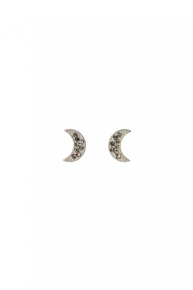 Pilgrim Olivia Silver Plated Moon Earrings