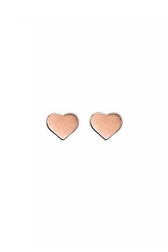 Pilgrim Pippa Rose Gold Plated Heart Earrings