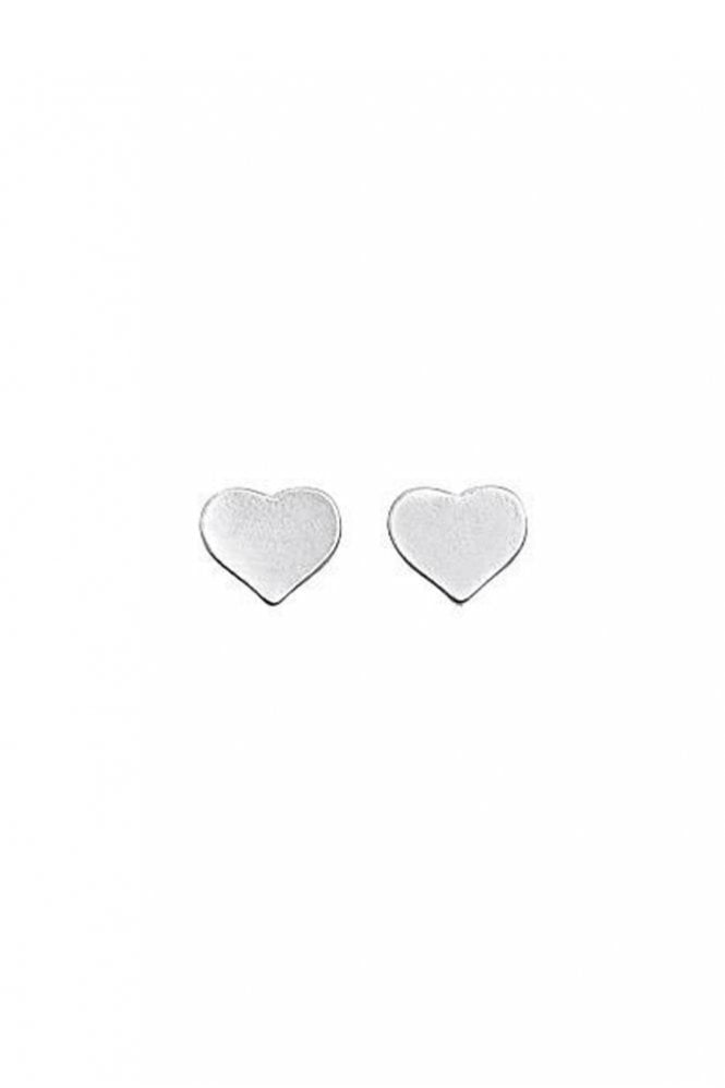 Pilgrim Pippa Silver Plated Heart Earrings