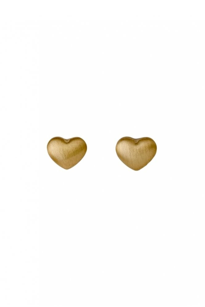 Pilgrim Sophia Gold Plated Heart Stud Earrings