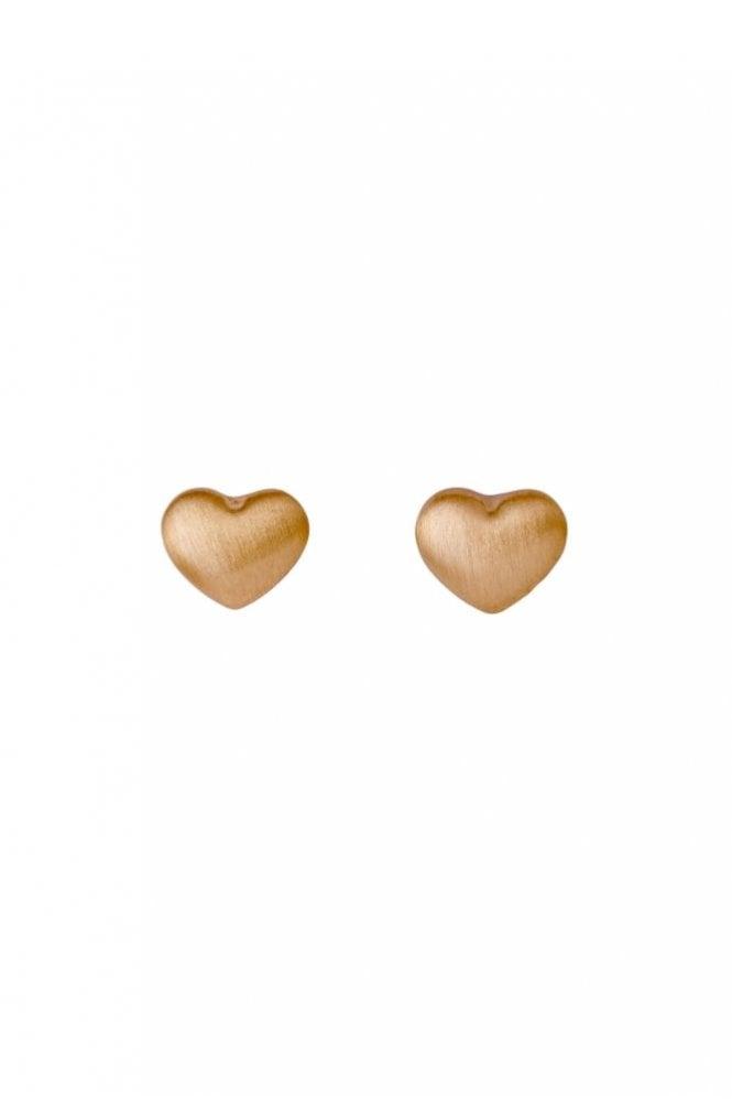 Pilgrim Sophia Rose Plated Heart Stud Earrings