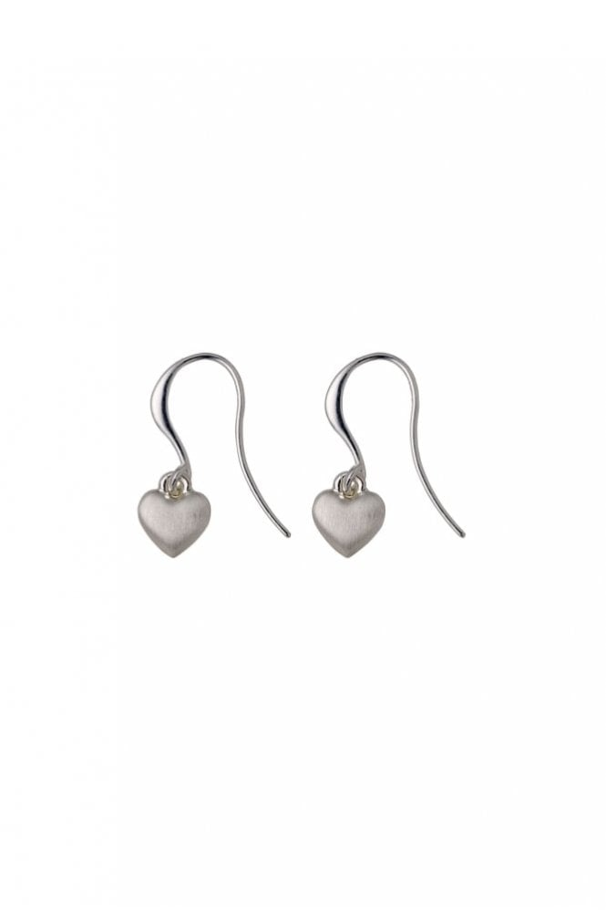 Pilgrim Sophia Silver Plated Heart Hook Earrings