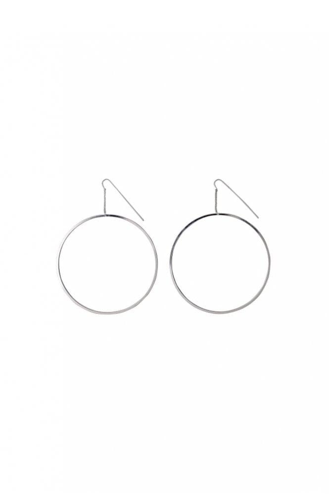 Pilgrim Tara Silver Plated Hoop Earrings