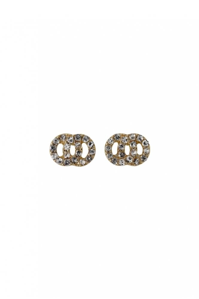 Pilgrim Victoria Gold Plated Crystal Earrings